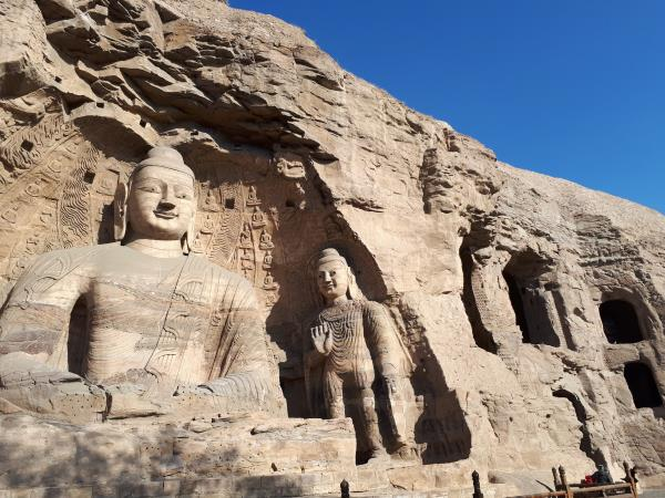 Rock-carved Buddhas 1,500 years ago, Yungang Grottoes, Datong