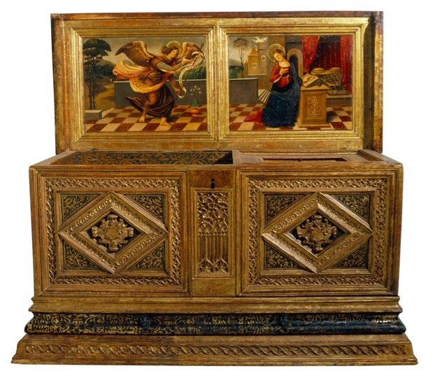 Anonymous, Bridal chest with the Annunciation Second quarter of the 16th century