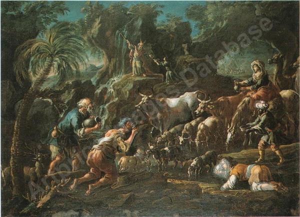 Cajetan Roos, Moisès fa brolla l'aigua de roca (subhastada a Finarte Roma el 2002)
