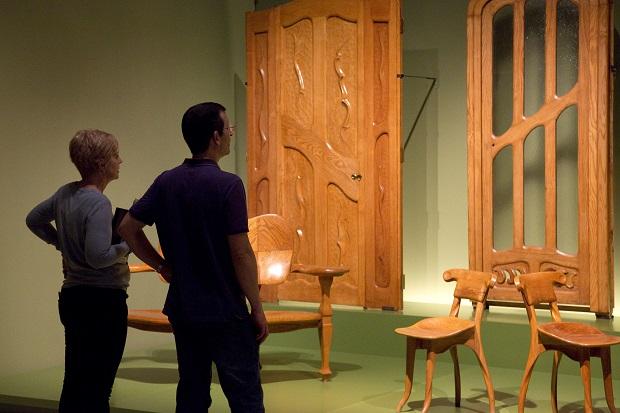 Cabecera. Detalle de una sala de la colección de Arte Moderno. Museu Nacional d'Art de Catalunya