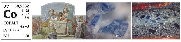 Estratigrafies de micromostres que contenen el pigment blau d'esmalt