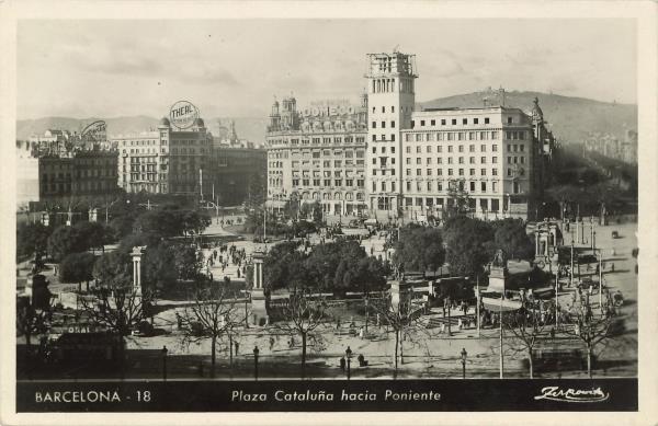 Construcció Banco Español de Crédito. Fons de postals Llegat Matas-Ramis de la Biblioteca Joaquim Folch i Torres