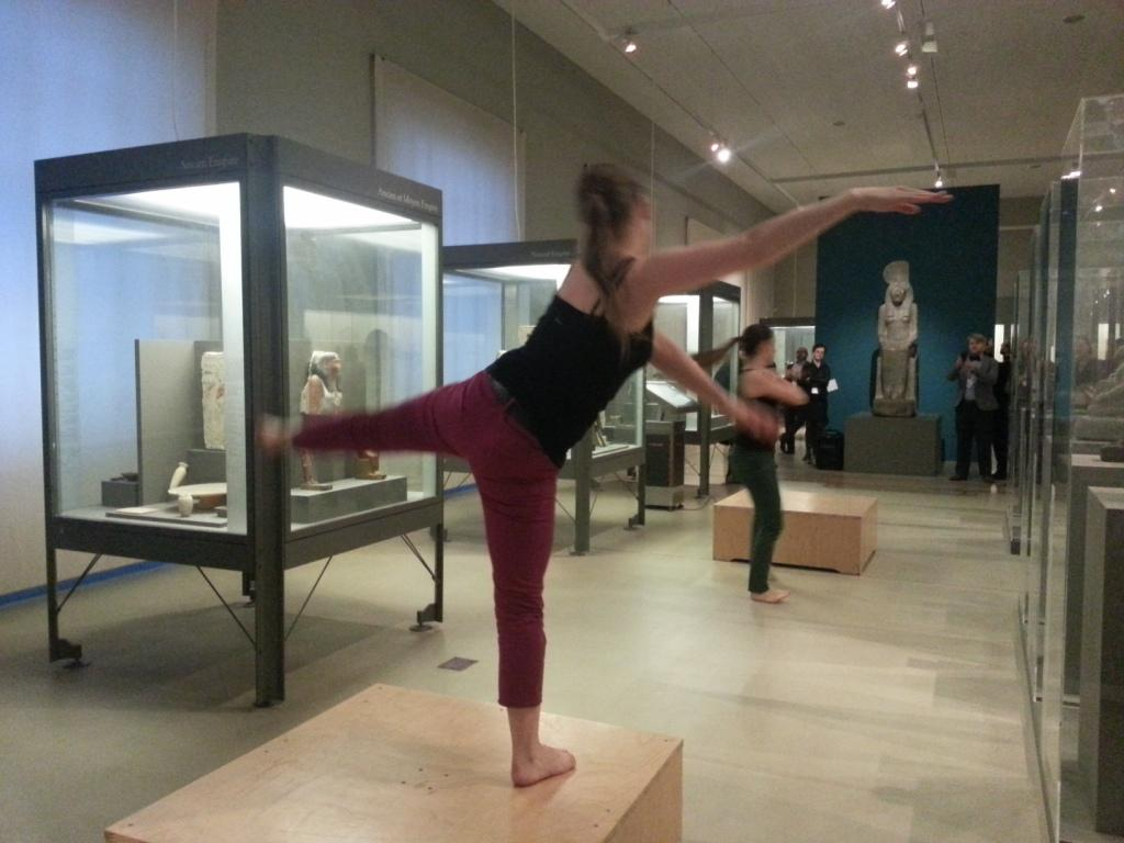 Dance in the Egyptian Galleries, Musée d'Art et d'Historie, Geneva. Photo: Conxa Rodà