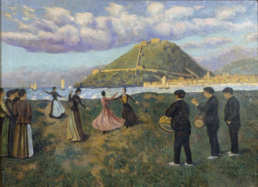 Darío de Regoyos, Festa basca (Ball a l'antic Sant Sebastià), 1888