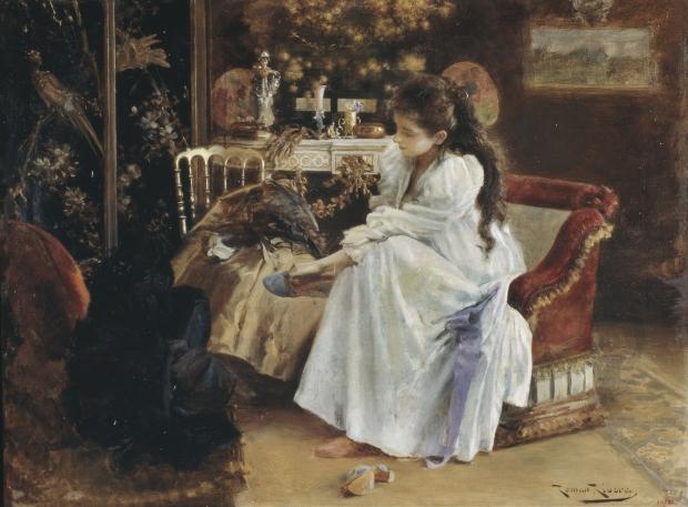 Romà Ribera. De soirée. Barcelona, hacia 1894.