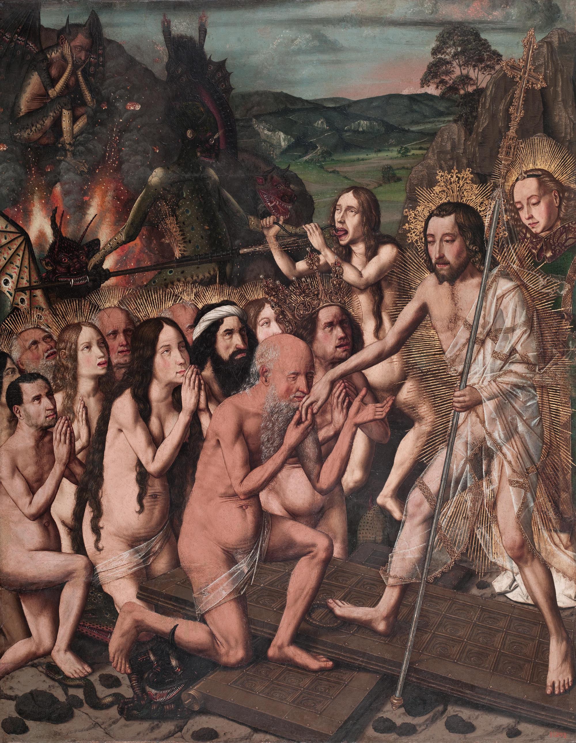 Bartolomé Bermejo, Davallament de Crist als Llimbs, c. 1475