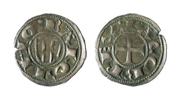 Jaume I, called «The Conqueror», Denier of Barcelona, 1222-1256. Museu Nacional