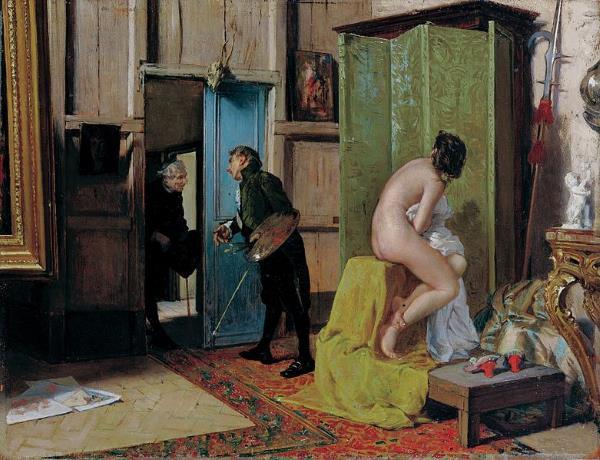 Eduardo Zamacois y Zabala, La visita inoportuna, cap a 1868. Museo de Bellas Artes de Bilbao