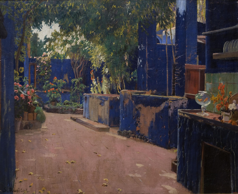 Santiago Rusiñol, El patio azul, 1913