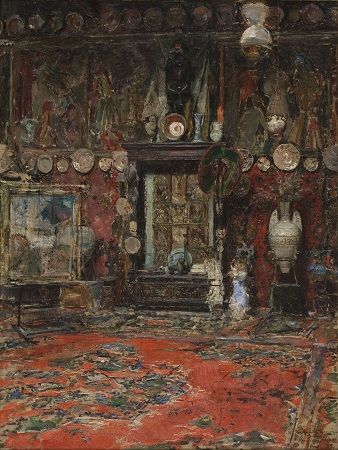 Ricardo de Madrazo, Mariano Fortuny's Workshop in Rome, 1874