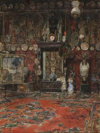 Ricardo de Madrazo, El taller de Marià Fortuny en Roma,  Roma, 1874