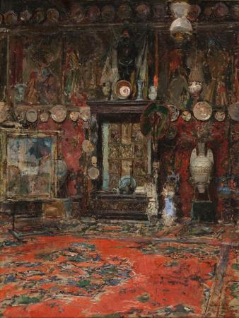 Marià Fortuny, The Studio of Marià Fortuny in Rome, 1874