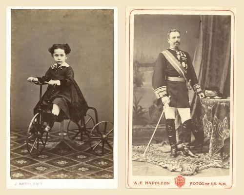 Els retrats de les cartes de visite es feien als tallers dels fotògrafs