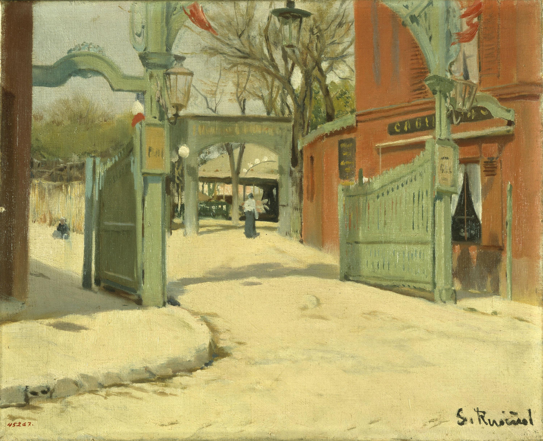 Santiago Rusiñol, Entrada al parc del Moulin de la Galette, 1891