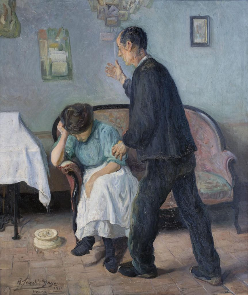 Rafael Sanchis, Interior scene, 1911