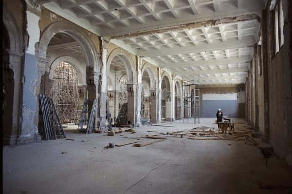 The estate of the work being done on the east wing, August 1991