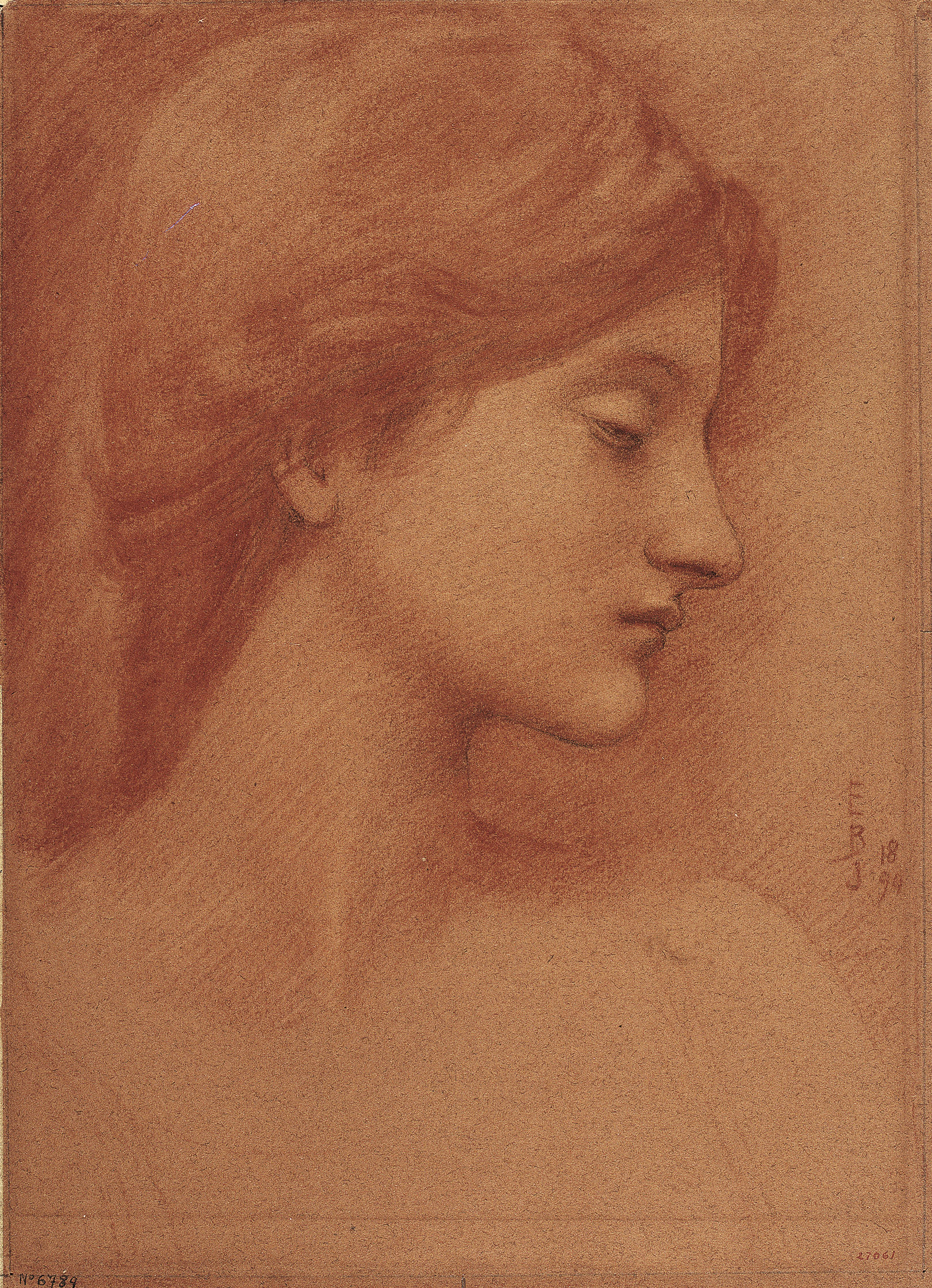 Edward Burne-Jones, Study of a Female Head, 1894