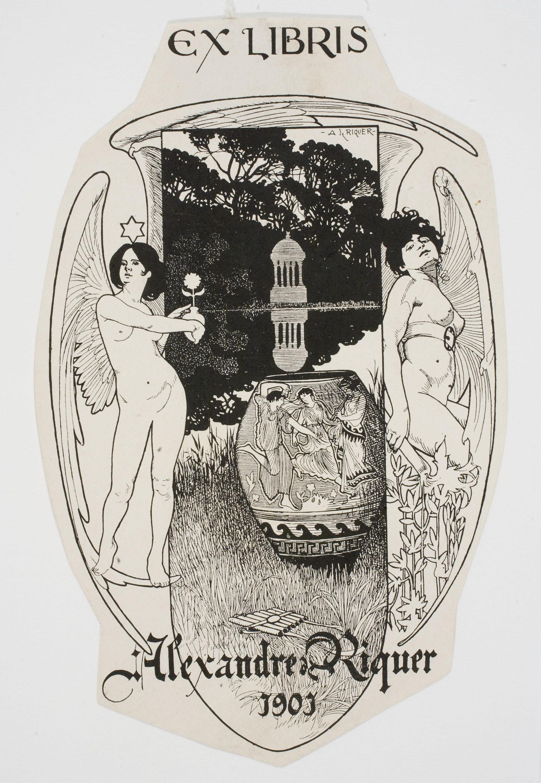 Alexandre de Riquer, Ex-libris Alexandre de Riquer, 1901