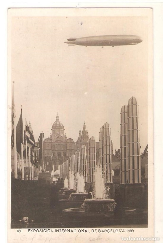 Barcelona International Exposition, 1929. Postcard from the period