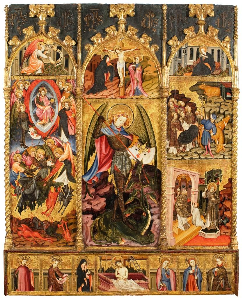 Joan Mates. Retaule de Sant Miquel Arcàngel, primer quart del segle XV. Museu Nacional d'Art de Catalunya