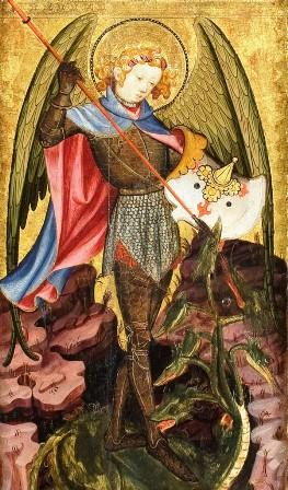 Joan Mates. Sant Miquel Arcàngel (detall).