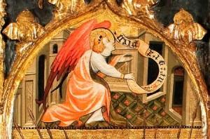 Joan Mates. Arcàngel sant Gabriel (detall).