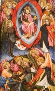 Joan Mates. Caiguda dels àngels rebels (detall).