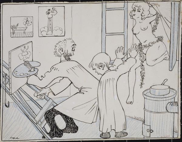 """Feliu Elias, Apa, La primavera i el pintor de """"Sant Lluch"""", cap a 1909"""