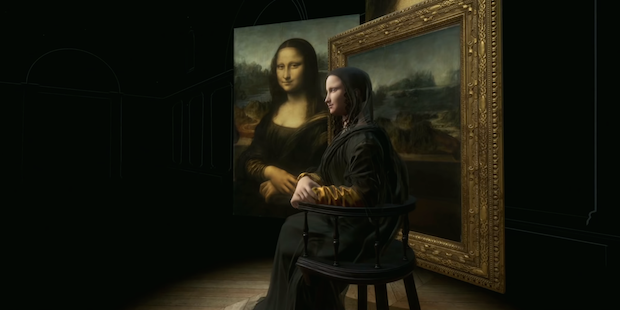 The VR experience «Mona Lisa: Beyond the Glass», Louvre, Paris