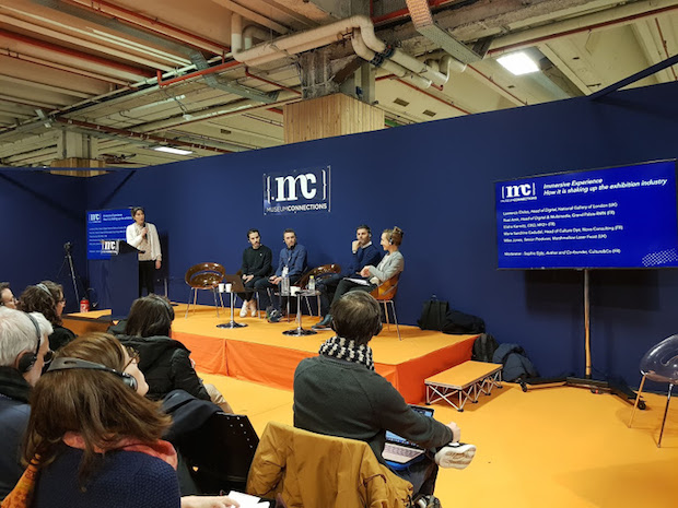 The speakers in the round table «How are immersive experiences affecting the exhibitions industry?»