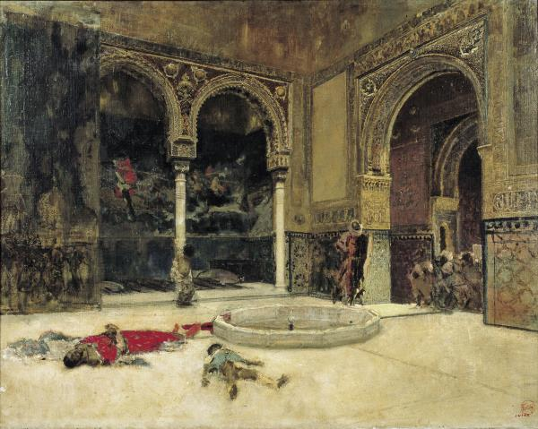 Marià Fortuny, The slaughter of the Abencerrajes, Granada, around 1870
