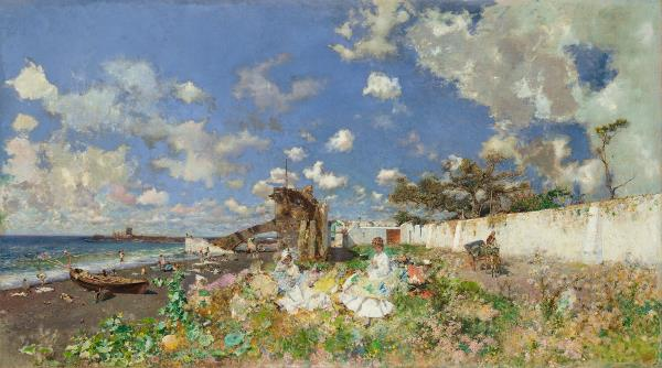 Mariano Fortuny. Beach of Portici. 1874