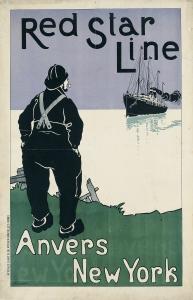 Henri Cassiers. Red Star Line, 1898.