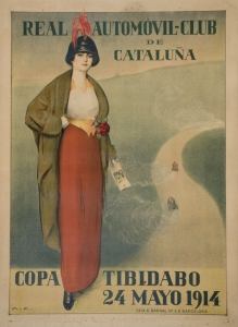 Ramon Casas. Real Automòvil Club de Catalunya. Copa Tibidabo, 1914.