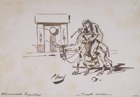 Ramon Casas. Ciclista. La tornada (La vuelta), cap a 1890.