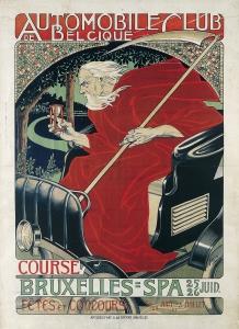 Georges Gaudy. Automobile Club Belgique. Course Bruxelles - Spa, 1898.