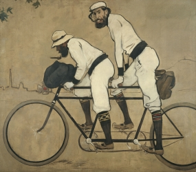 Ramon Casas. Ramon Casas and Pere Romeu on a Tandem, 1897.