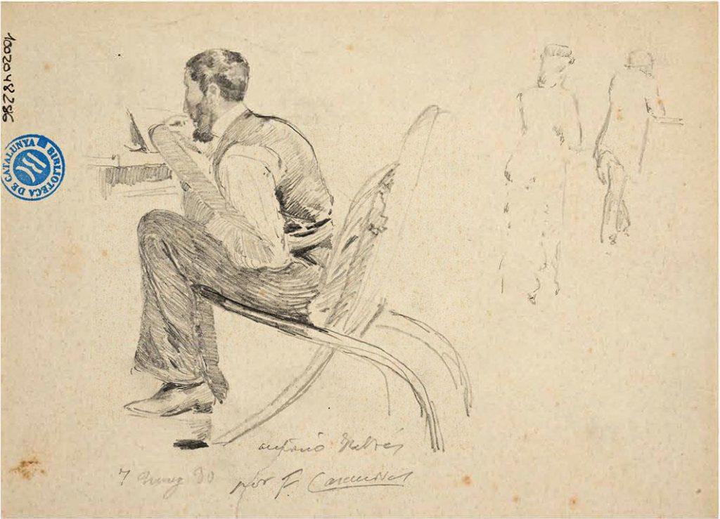Francesc Casanovas, Antoni Fabrés, 1880. Biblioteca de Catalunya