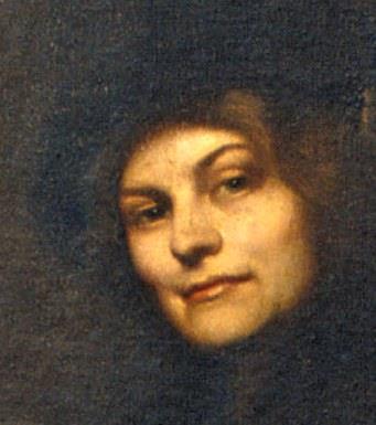 Francesc Pausas, Retrat de Maria Sampere, dona del pintor, 1911. Detall