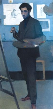 Francesc Sardà, Alexandre de Cabanyes Painting in his Studio in Paris, circa 1900, oil on canvas, Manuel de Cabanyes Romanticism Study Centre (Masia d'en Cabanyes)