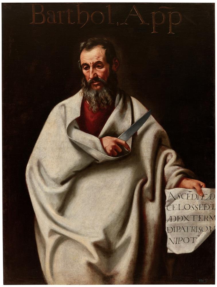 Cristóbal García Salmerón, Sant Bartolomé, siglo XVII. Museo del Prado, Madrid