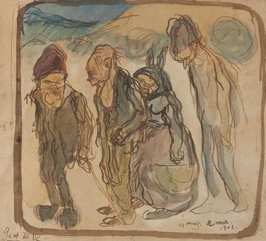 Isidre Nonell, Gent de bé (Cretins), 1902. Col·lecció particular, Barcelona