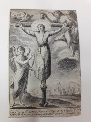 Grabado de Manuel Tramulles y Blai Amatller del Museu Nacional