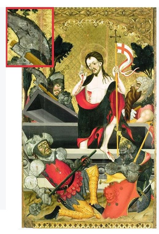 Guerau Gener i Lluís Borrassà, Resurrecció de Crist del Retaule major del monestir de Santes Creus, 1407-1411.