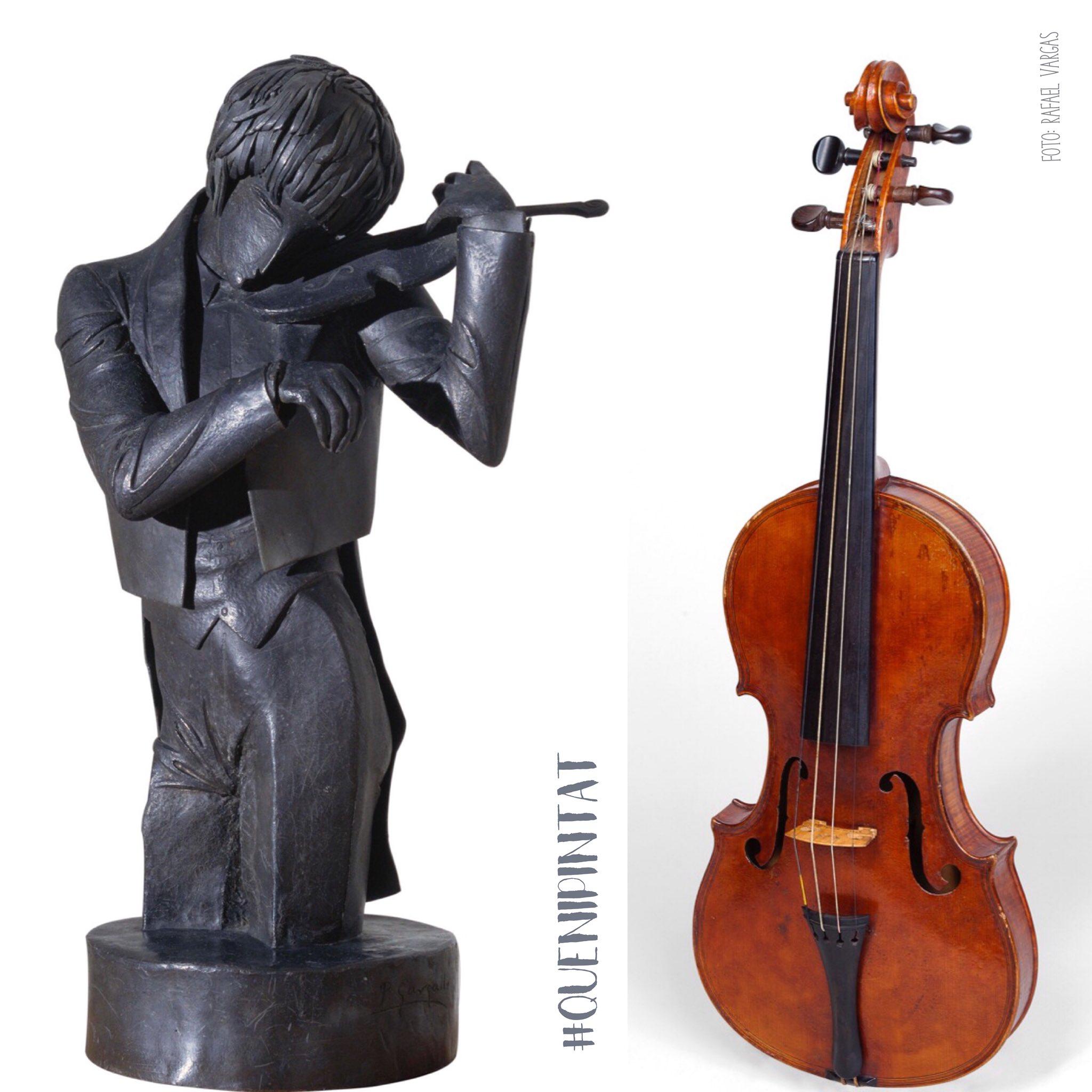 Pau Gargallo, El violinista, 1920 i Violí del Museu de la Música