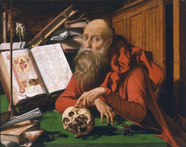 Marinus van Reymerswaele, San Jerónimo en su celda, 1535. Real Acdemia de Bellas Artes de San Fernando