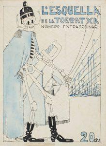Jaume Passarell, portada de L'Esquella de la Torratxa, número extraordinario, 29 de octubre de 1915 (077987-D), 1922