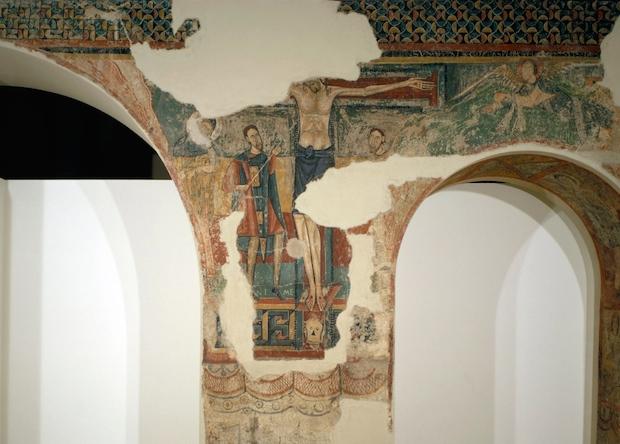 Crucifixion from Sorpe, mid-12th century, Museu Nacional d'Art de Catalunya