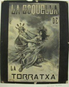 José Blanco Coris, «Saturno y Venus», portada de L'Esquella de la Torratxa, 1897, L'Esquella de la Torratxa, 7 de enero de 1898, 991 (072857-D)
