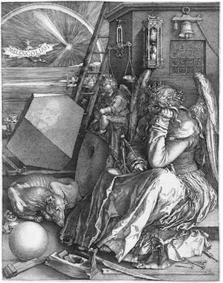 Albrecht Dürer, Melancolia I, 1514. Staatliche Kunsthalle Karlsruhe